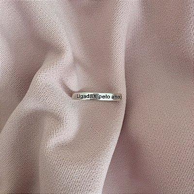 """Anel """"Ligadas pelo amor, pelo sangue e perlo coração"""" aro 3mm - Prata 925"""