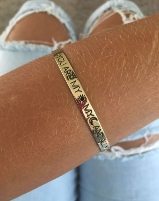 """Bracelete """"YOU ARE MY SUN, MY MOON, AND ALL MY STARS"""""""