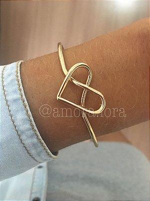Bracelete Coração Nó (DOURADA)