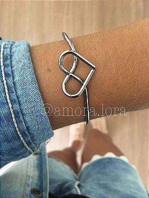 Bracelete Coração Nó (Chumbo)