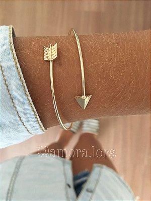 Bracelete Flecha Dourado Ref.99