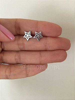 Brinco Estrela - Aço Inoxidável - Ref.293