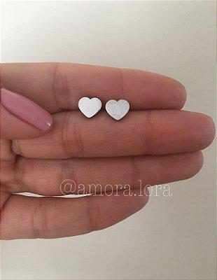 Brinco Coração - Aço Inoxidável - Ref.294