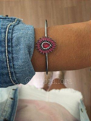 Bracelete Vermelho Zircônia Ref.305