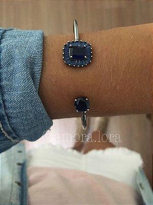Bracelete Azul Marinho Zircônia Ref.306