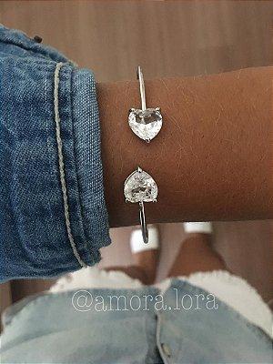 Bracelete Dois Corações  Ref.594