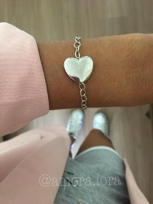 Pulseira Coração Grande Virado AMORALORA Ref.609