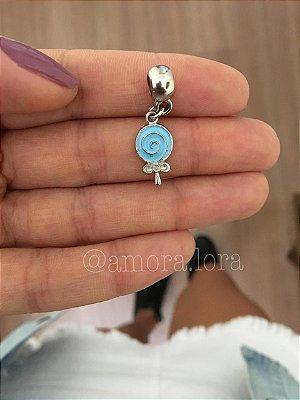Berloque Pirulito Azul Ref.744