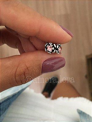 Berloque Brilho Rosa Ref.775