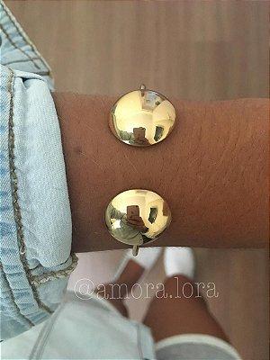 Bracelete Bola dourado Ref.805