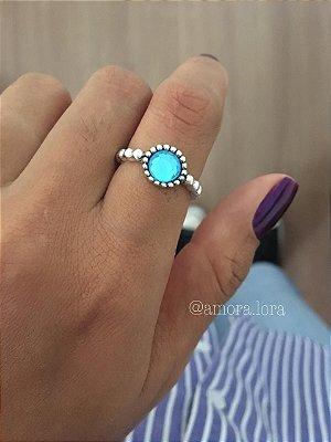 Anel Pedra Azul Ref.863