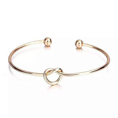 Bracelete Nó de Marinheiro Dourado Ref.1034