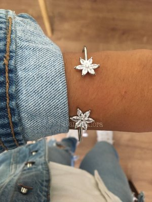 Bracelete Flor Cristal Ref.1267