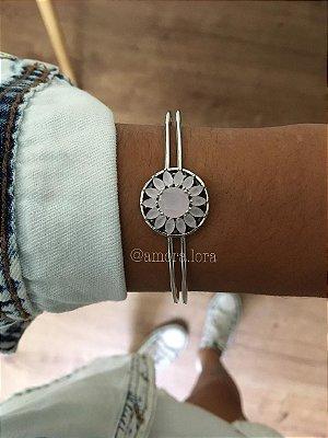 Bracelete Rosa Pedras