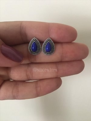 Brinco Boho Gota Azul Ref.1371