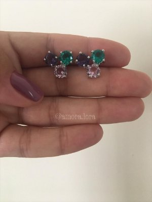 Brinco Ear Cuff Mix Colors Ref.1385