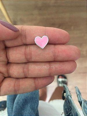 Berloque Coração Rosa Ref.1419