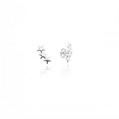Brinco Trio Estrelas Prata 925 Ref. BR20