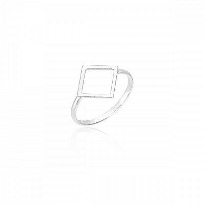 Anel Geométrico Losango Prata 925 Ref. AN06