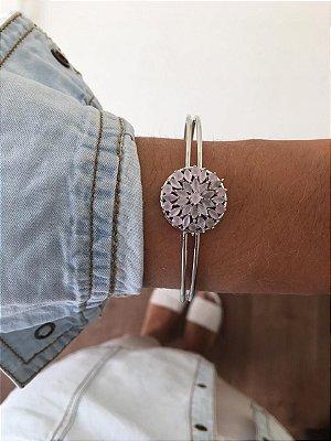 Bracelete Pedra Rosa Ref.P015