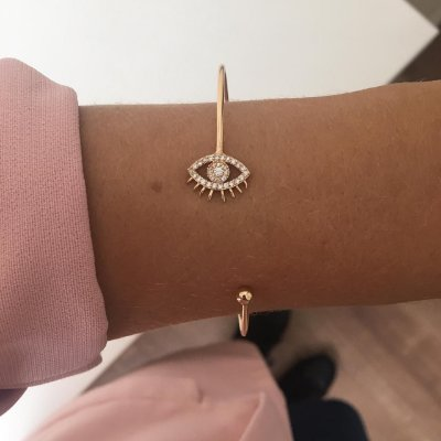 Bracelete Olho Grego Dourado