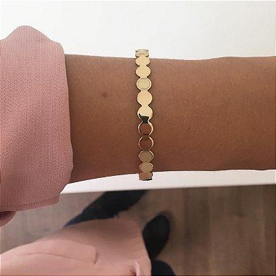 Bracelete Bolinhas Dourado