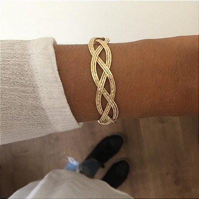 Bracelete Dourado Ref. P064
