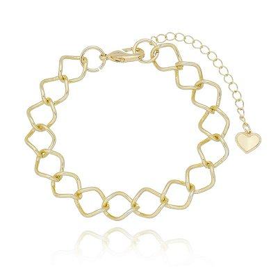 Pulseira elo oval dourado (30110)
