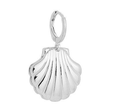 Pingente concha banhado em ouro 18k / prata / ródio branco (70126)