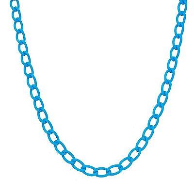 Colar elo grumet pequeno azul claro (20208)