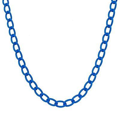 Colar elo grumet pequeno azul (20205)
