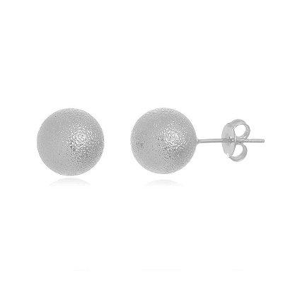 Brinco bola trabalhada grande banhado em ouro 18k / prata / ródio branco  (10131)