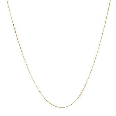 Corrente veneziana f0.6 45 cm banhado em ouro 18k / prata / ródio branco (20219.45)