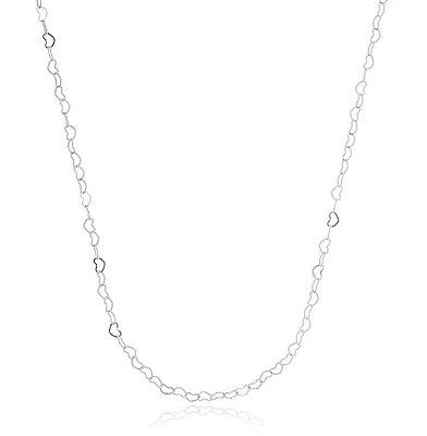 Corrente coração banhado em ouro 18k / prata / ródio branco (20115)