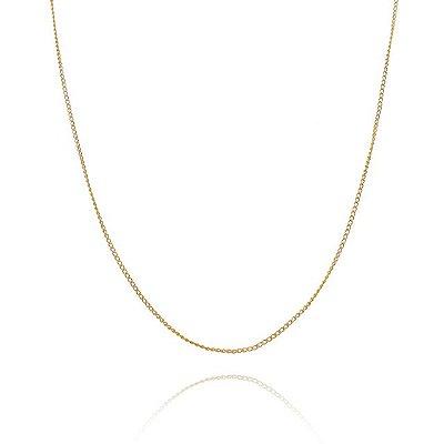 Corrente Groumet  50 cm fio 4 fio banhado em ouro 18k/prata/ródio branco