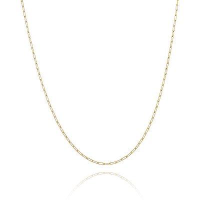 Corrente Cartier 50cm fio 5 banhado em ouro 18k/prata/ródio branco