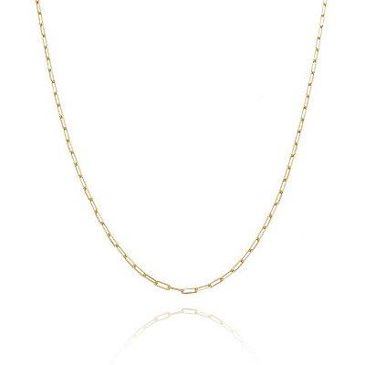 Corrente Cartier 50 cm fio 6 banhada em ouro 18k/prata/ródio branco