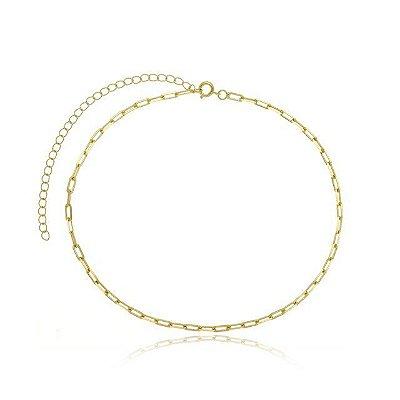 Gargantilha Cartie Grossa banhada em ouro 18k/prata/ródio branco