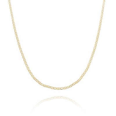 Corrente Piastrini 60 cm banhada em ouro 18k/prata/ródio branco