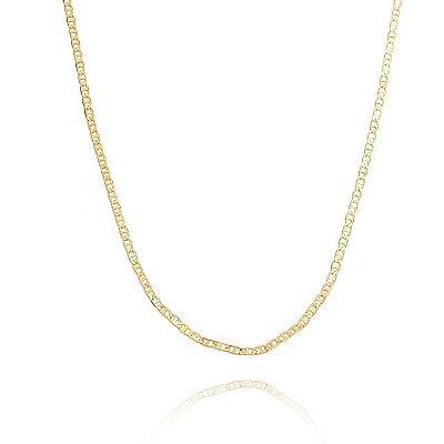 Corrente Piastrini 50 cm / banhada em ouro 18k/prata/ródio branco