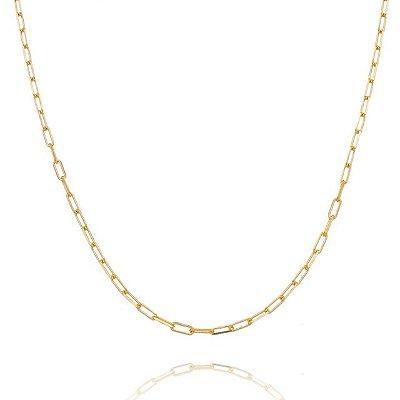 Corrente Cartier 60 cm fio 8 banhada em ouro 18k/prata/ródio branco