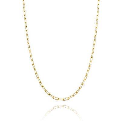 Corrente Cartier 60 cm fio10 banhada em ouro 18k/prata/ródio branco
