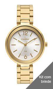 Relógio Condor Feminino Dourado - CO2035MUS8A