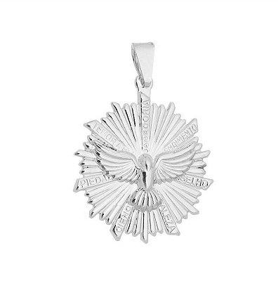 Pingente Espírito Santo banhado em ouro 18k/prata/ródio branco