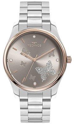 Relógio Feminino Technos Prata - 2036MOG1C