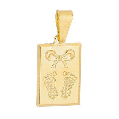 Pingente pezinho filha banhado em ouro 18k prata ou ródio