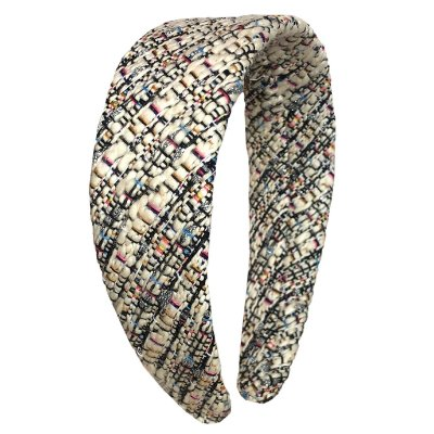 Tiara Flat de lã Tweed Colorido