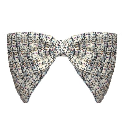 Fivela de Laço V de lã Tweed Colorido