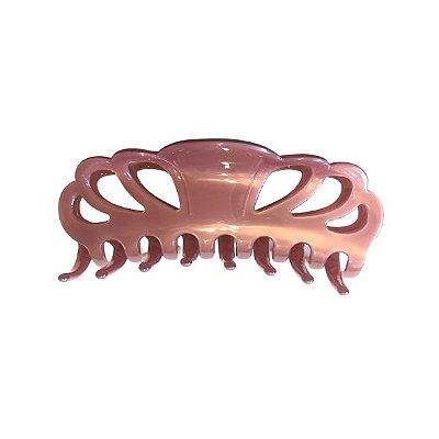 Presilha de Cabelo Curvas Rosa Perolado