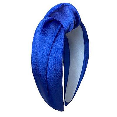 Turbante de Cetim Azul